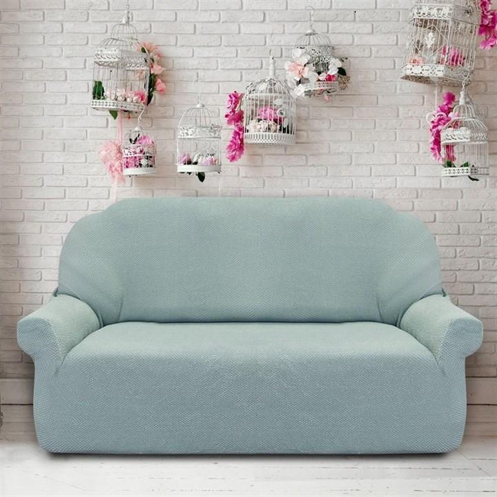 АЛЯСКА МЕНТА Чехол на 3-х местный диван от 170 до 230 см - фото 11946