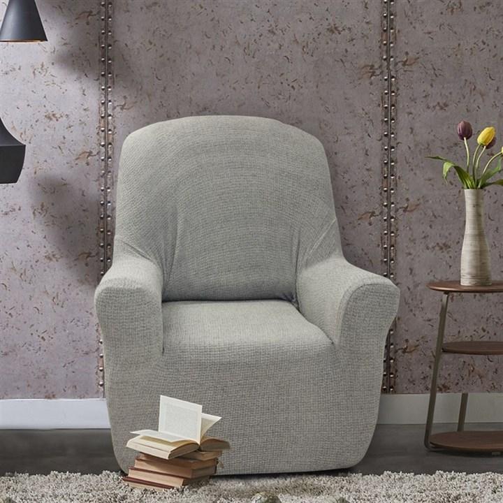 ЭЛЕГАНТ ГРИС Чехол на кресло от 70 до 110 см - фото 11952