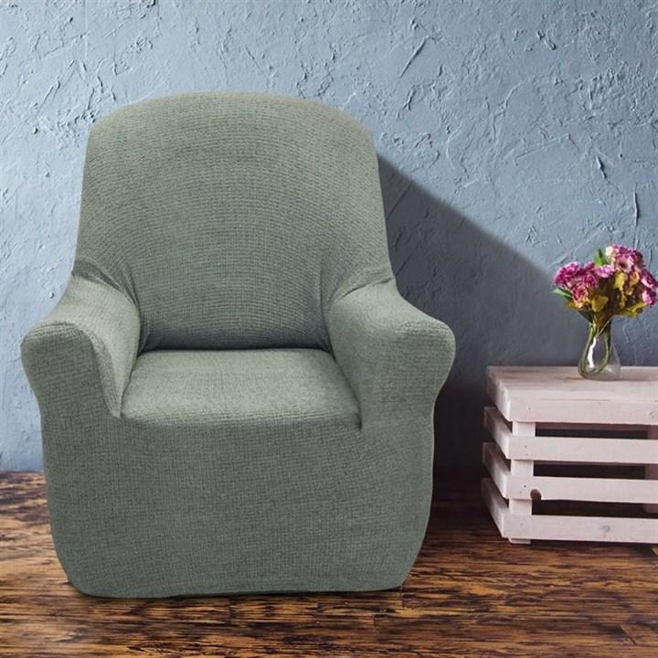 ЭЛЕГАНТ БЛАНКО Чехол на кресло от 70 до 110 см - фото 11953