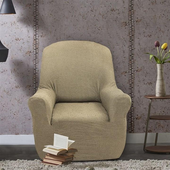 ЭЛЕГАНТ ВИСОН Чехол на кресло от 70 до 110 см - фото 11954