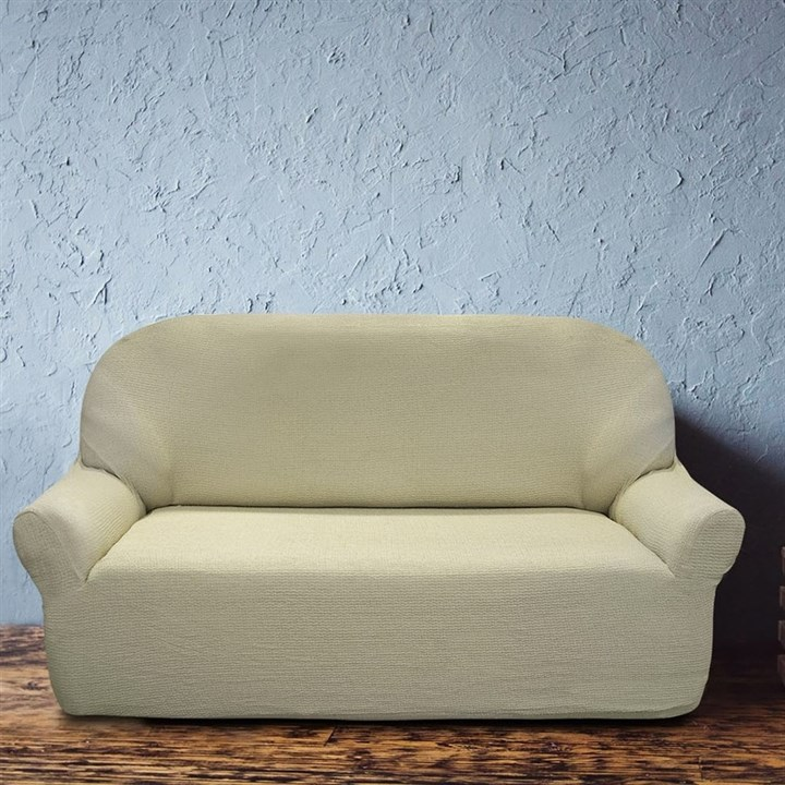 ЭЛЕГАНТ БЕЖ Чехол на 3-х местный диван от 170 до 230 см - фото 11956