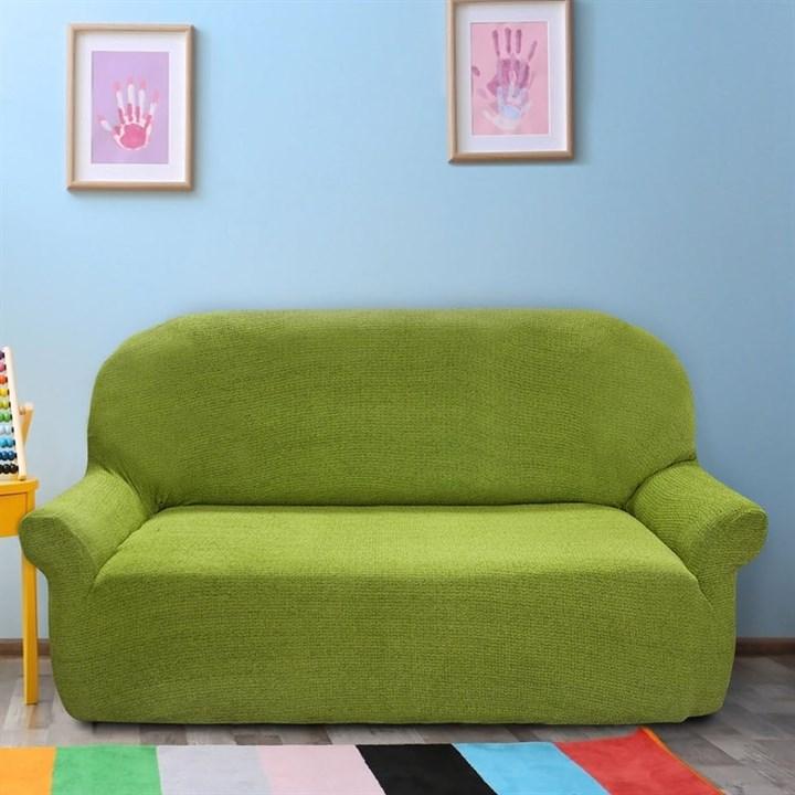 ЭЛЕГАНТ ВЕРДЕ Чехол на 3-х местный диван от 170 до 230 см - фото 11958