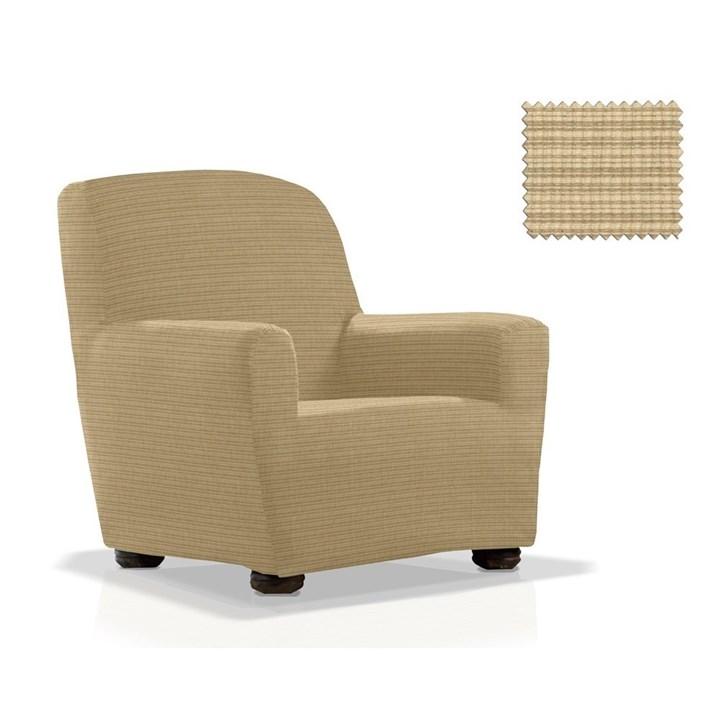 ИБИЦА БЕЖ Чехол на кресло от 70 до 110 см - фото 11967