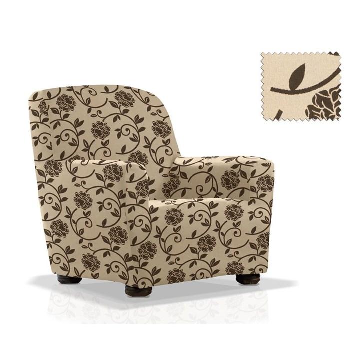 АКАПУЛЬКО БЕЖ Чехол на кресло от 70 до 110 см - фото 11976