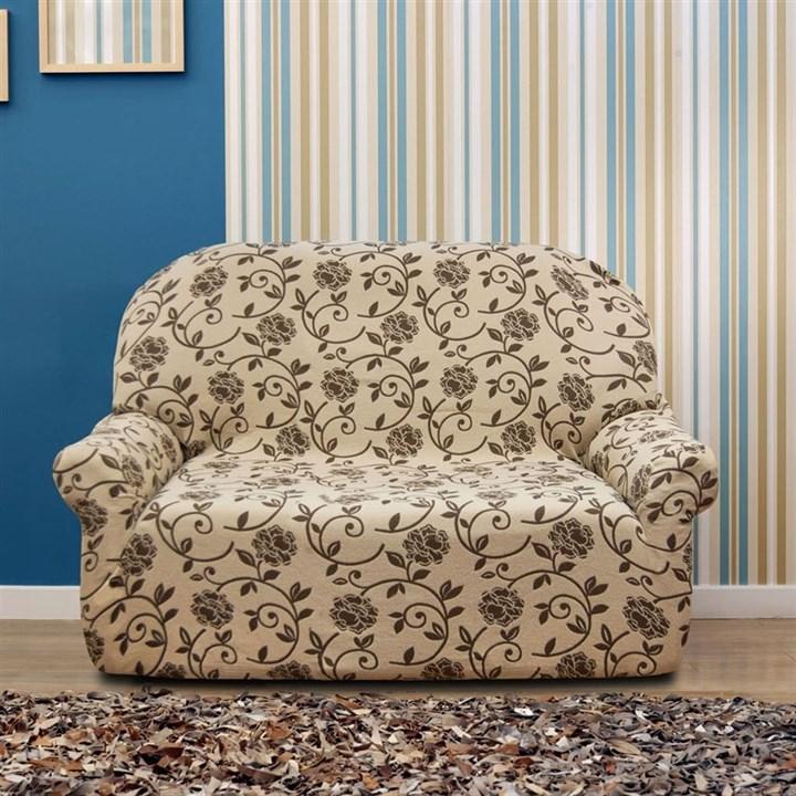 АКАПУЛЬКО БЕЖ Чехол на 2-х местный диван от 120 до 170 см - фото 11981