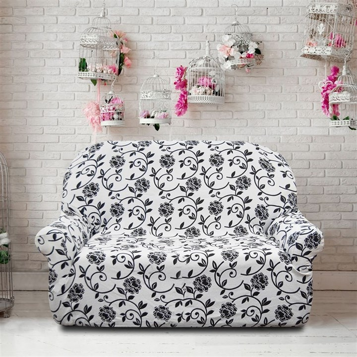 АКАПУЛЬКО БЛАНКО Чехол на 2-х местный диван от 120 до 170 см - фото 11985
