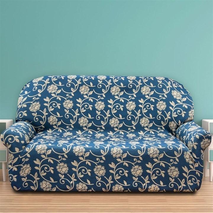 АКАПУЛЬКО АЗУЛ Чехол на 3-х местный диван от 170 до 230 см - фото 11987