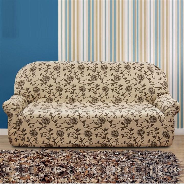 АКАПУЛЬКО БЕЖ Чехол на 4-х местный диван от 230 до 270 см - фото 11993