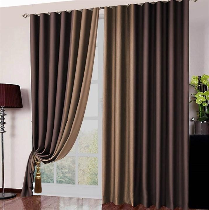 Готовые шторы Блэкаут Амалия шоколад - фото 12598