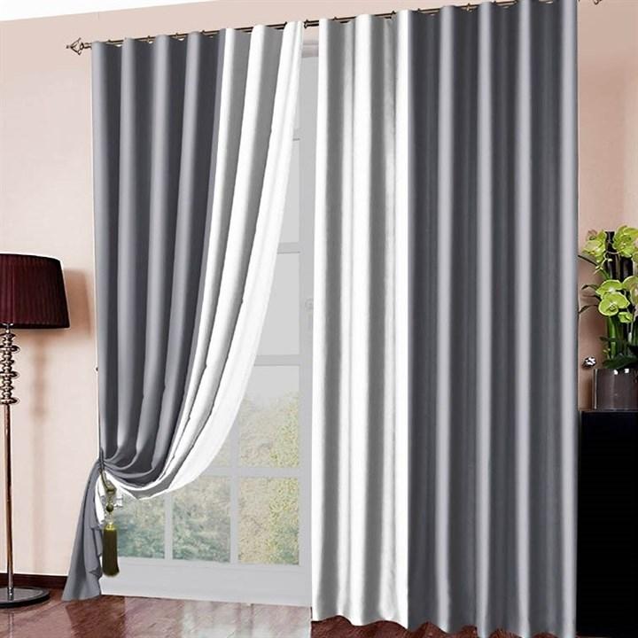 Готовые шторы Блэкаут Амалия серебро - фото 12653