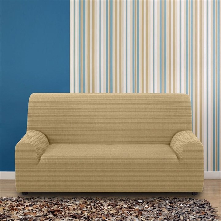 ИБИЦА БЕЖ Чехол на 3-х местный диван от 170 до 230 см - фото 12674