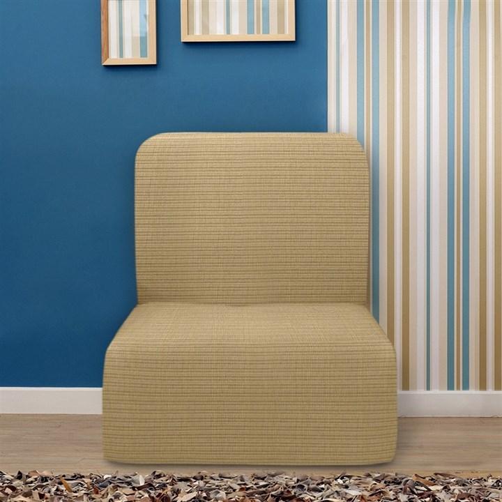 ИБИЦА БЕЖ Чехол на кресло без подлокотников от 70 до 110 см - фото 12702