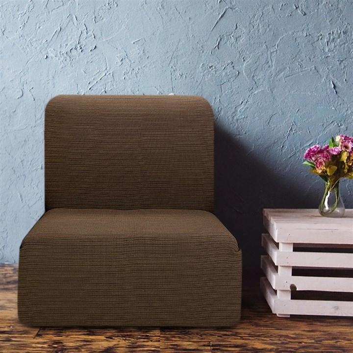ИБИЦА МАРОН Чехол на кресло без подлокотников от 70 до 110 см - фото 12704