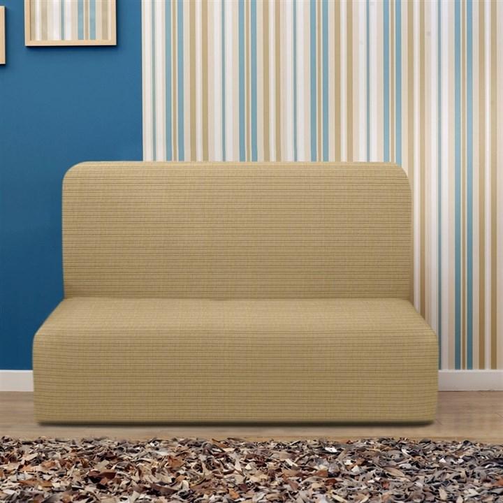 ИБИЦА БЕЖ Чехол на диван без подлокотников от 160 до 210 см - фото 12706