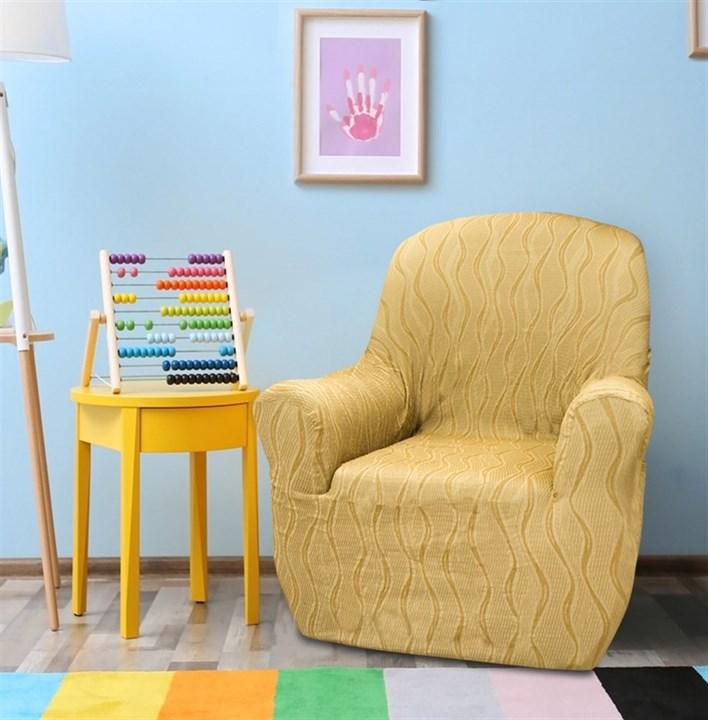ТОСКАНА БЕЖ Чехол на кресло от 70 до 110 см - фото 12715