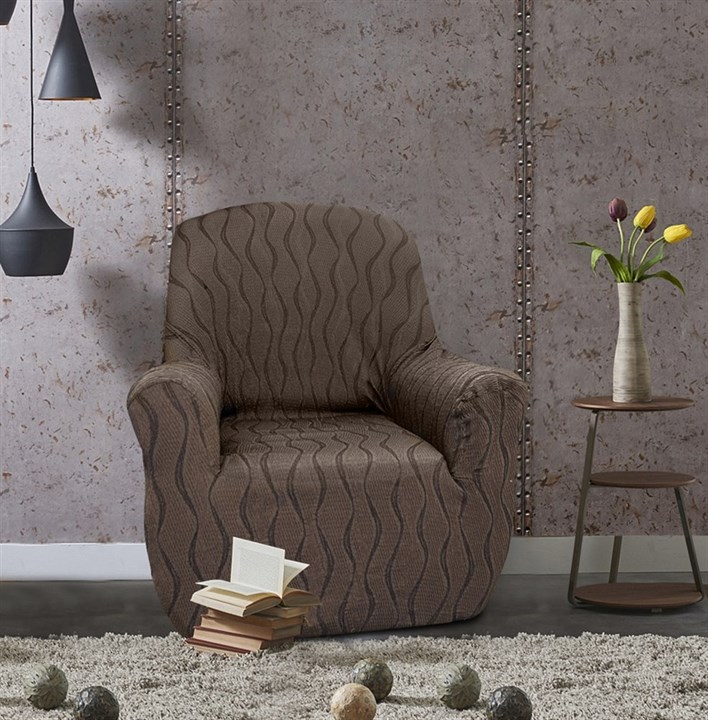 ТОСКАНА МАРОН Чехол на кресло от 70 до 110 см - фото 12716