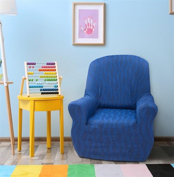 ТОСКАНА АЗУЛ Чехол на кресло от 70 до 110 см - фото 12717