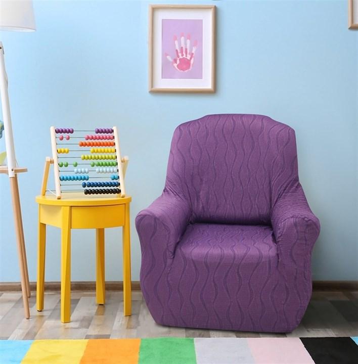 ТОСКАНА МАЛВА Чехол на кресло от 70 до 110 см - фото 12718