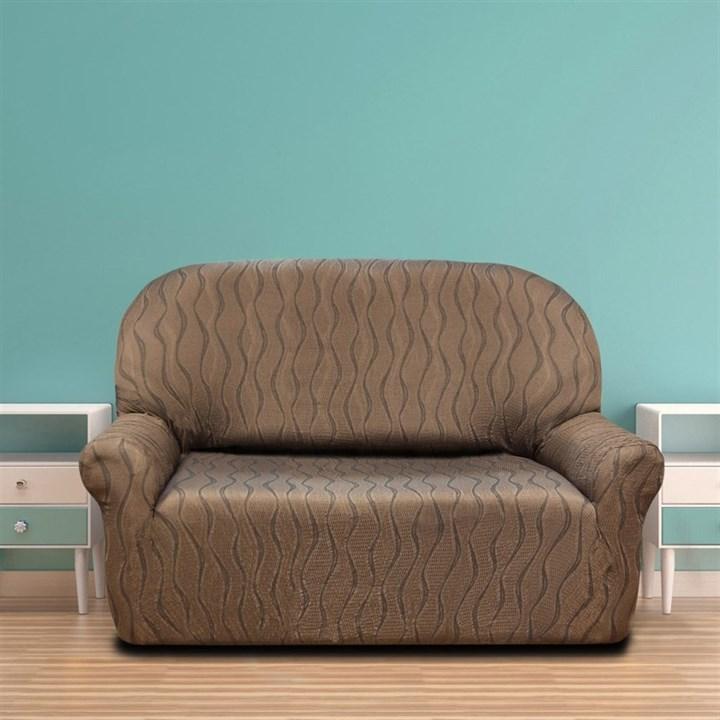 ТОСКАНА МАРОН Чехол на 2-х местный диван от 120 до 170 см - фото 12723