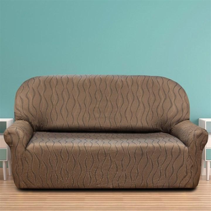 ТОСКАНА МАРОН Чехол на 3-х местный диван от 170 до 230 см - фото 12727