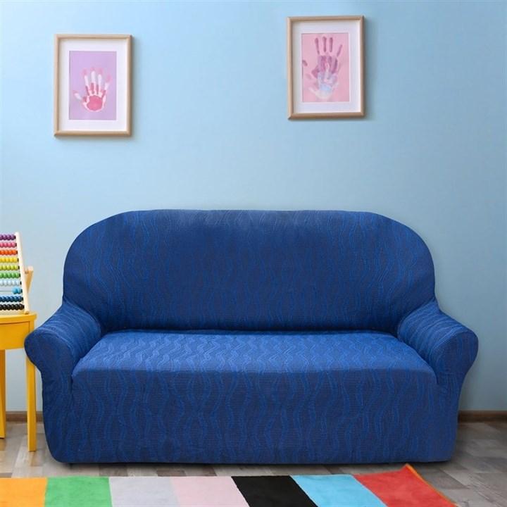 ТОСКАНА АЗУЛ Чехол на 3-х местный диван от 170 до 230 см - фото 12728