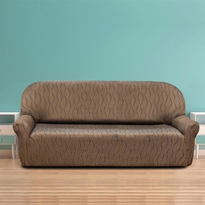 ТОСКАНА МАРОН Чехол на 4-х местный диван от 230 до 270 см - фото 12734