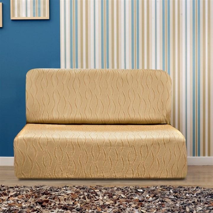 ТОСКАНА БЕЖ Чехол на диван без подлокотников от 160 до 210 см - фото 12736
