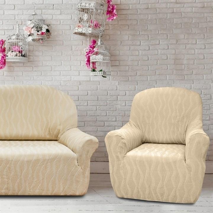 ТОСКАНА МАРФИЛ Комплект чехлов на диван и 2 кресла - фото 12751