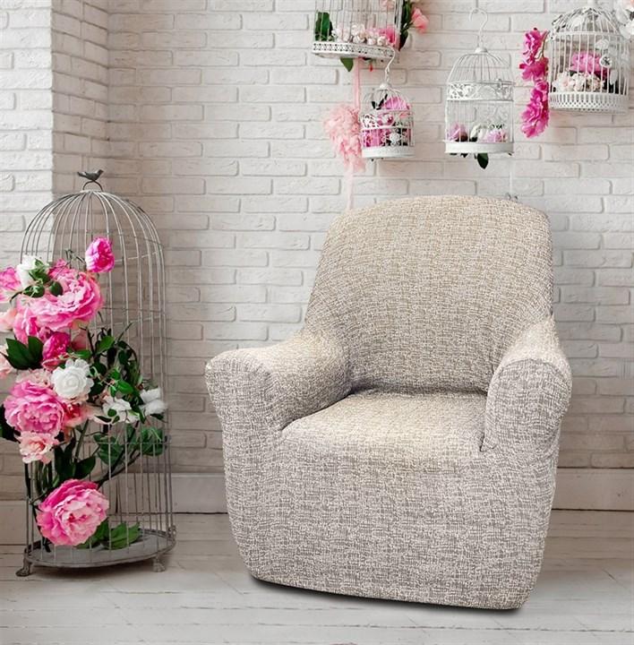 МАЛЬТА ВИСОН Чехол на кресло от 70 до 110 см - фото 12754