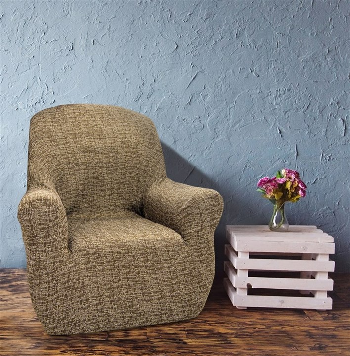 МАЛЬТА МАРОН Чехол на кресло от 70 до 110 см - фото 12756