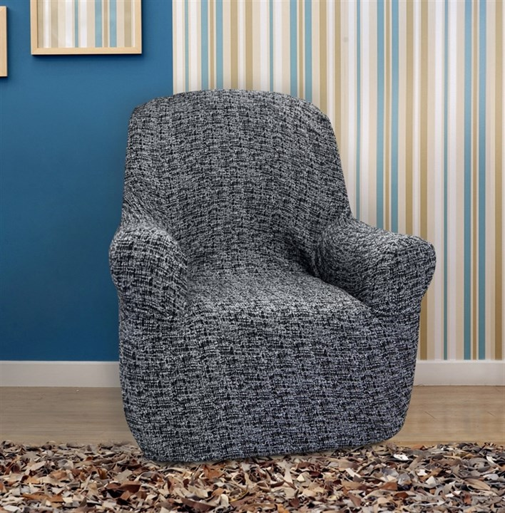 МАЛЬТА НЕГРО Чехол на кресло от 70 до 110 см - фото 12758