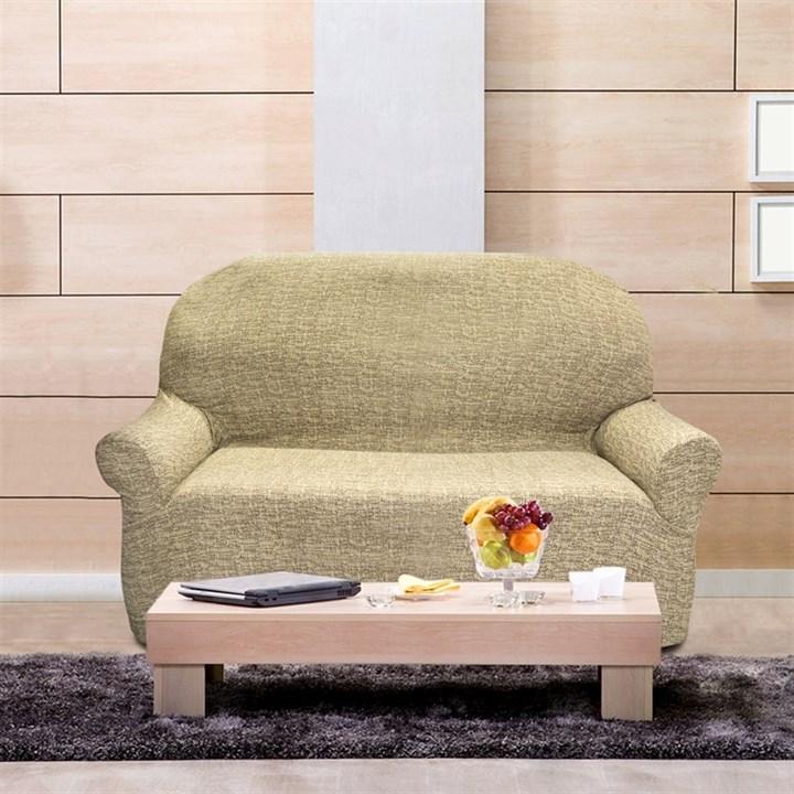 МАЛЬТА БЕЖ Чехол на 2-х местный диван от 120 до 170 см - фото 12760