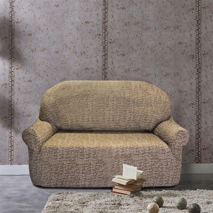 МАЛЬТА МАРОН Чехол на 2-х местный диван от 120 до 170 см - фото 12761