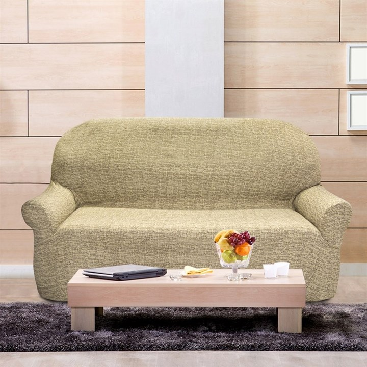 МАЛЬТА БЕЖ Чехол на 3-х местный диван от 170 до 230 см - фото 12767