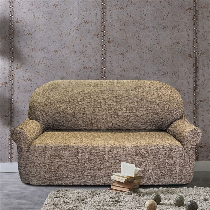 МАЛЬТА МАРОН Чехол на 3-х местный диван от 170 до 230 см - фото 12768