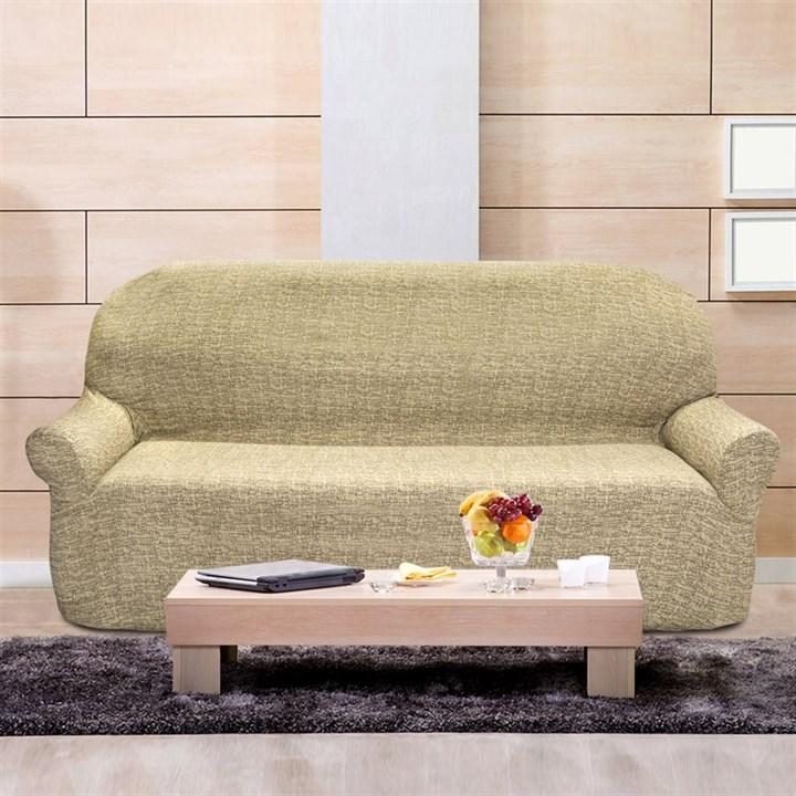 МАЛЬТА БЕЖ Чехол на 4-х местный диван от 230 до 270 см - фото 12785