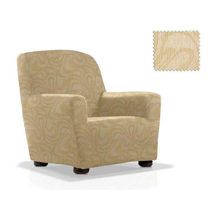ДАНУБИО БЕЖ Чехол на кресло от 70 до 110 см - фото 12790