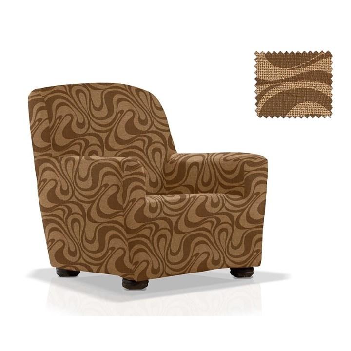 ДАНУБИО МАРОН Чехол на кресло от 70 до 110 см - фото 12791