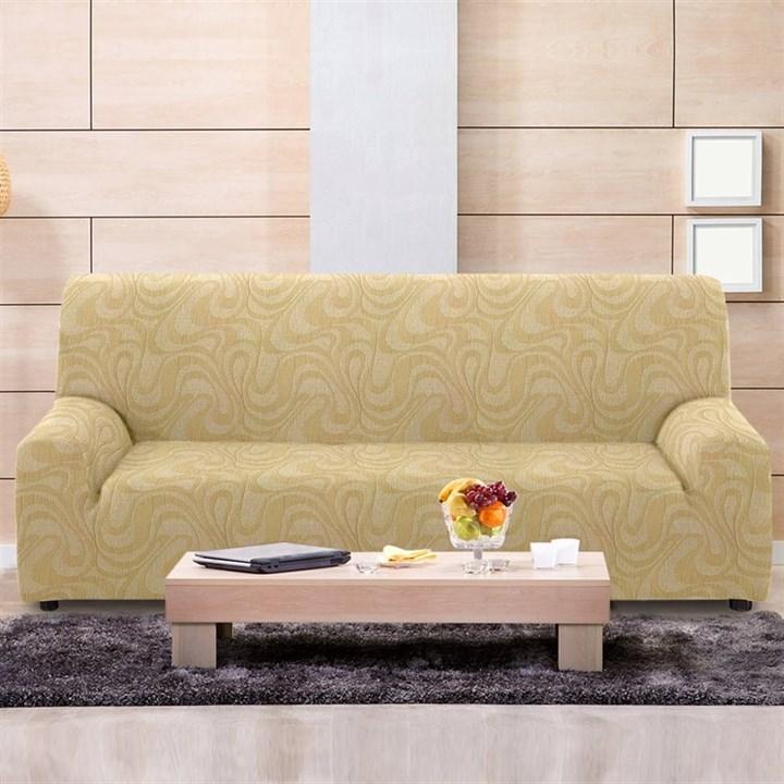 ДАНУБИО БЕЖ Чехол на 4-х местный диван от 230 до 270 см - фото 12812