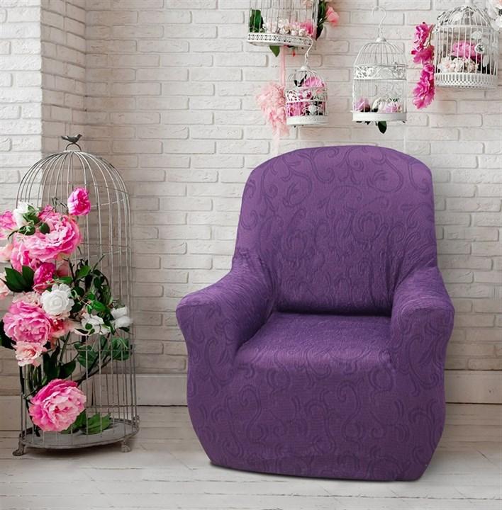 БОСТОН МАЛВА Чехол на кресло от 70 до 110 см - фото 12822