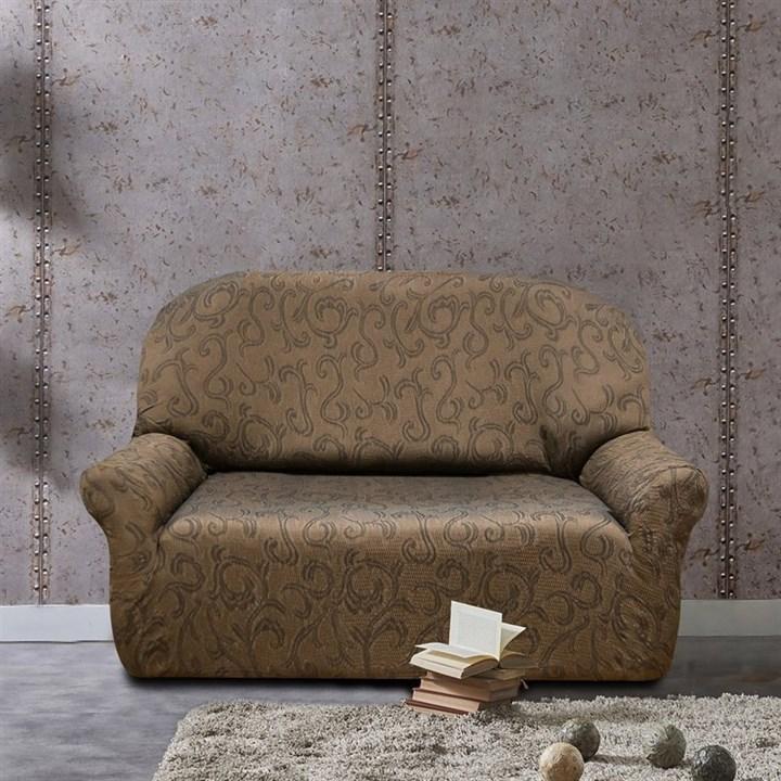 БОСТОН МАРОН Чехол на 2-х местный диван от 120 до 170 см - фото 12827