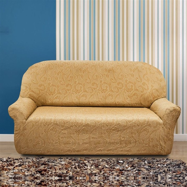 БОСТОН БЕЖ Чехол на 3-х местный диван от 170 до 230 см - фото 12831