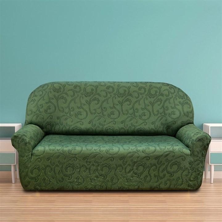 БОСТОН ВЕРДЕ Чехол на 3-х местный диван от 170 до 230 см - фото 12837