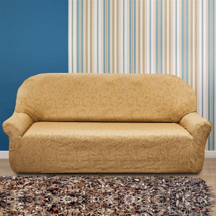 БОСТОН БЕЖ Чехол на 4-х местный диван от 230 до 270 см - фото 12845