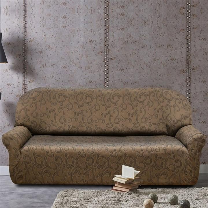 БОСТОН МАРОН Чехол на 4-х местный диван от 230 до 270 см - фото 12847