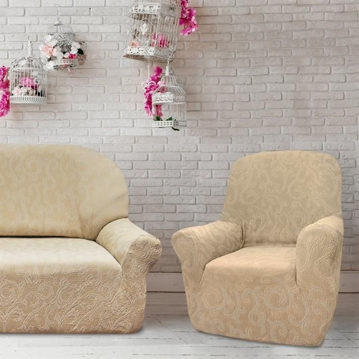 БОСТОН МАРФИЛ Комплект чехлов на диван и 2 кресла - фото 12850