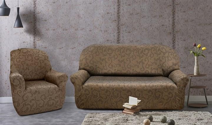 БОСТОН МАРОН Комплект чехлов на диван и 2 кресла - фото 12853