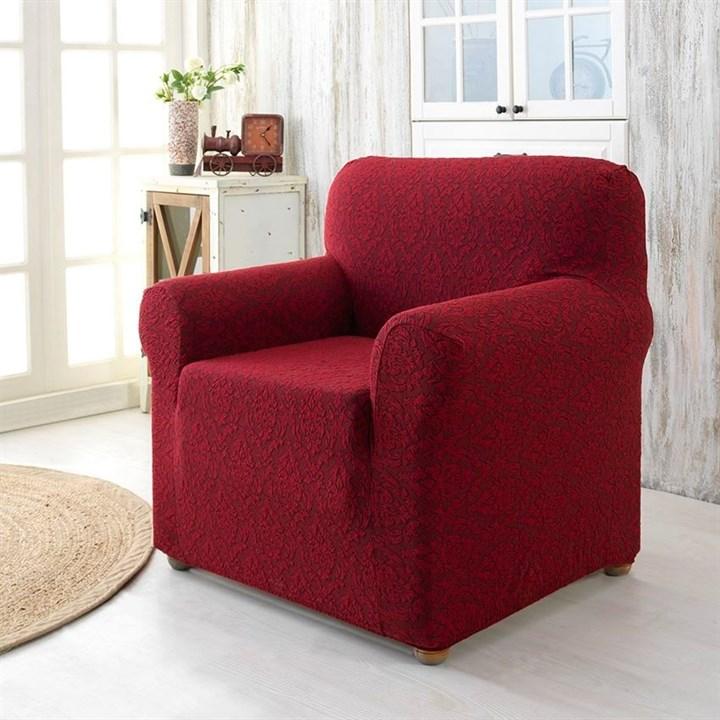 Натяжной чехол Milano Bordo для кресла бордовый