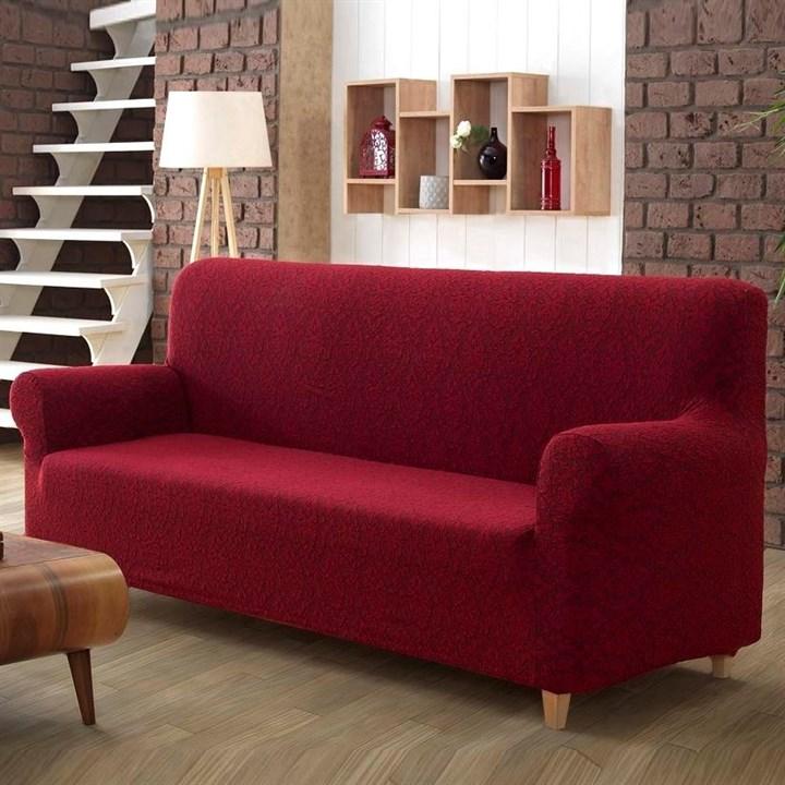 MILANO BORDO Чехол на 3-х местный диван от 170 до 240 см бордовый - фото 13139