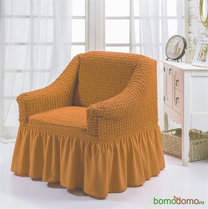 MUSTARD Чехол для кресла от 70 до 120 см горчичный - фото 13618